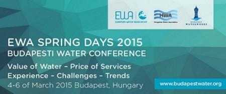 EWA Tavaszi Napok 2015 - 2015. március 4-6. között Budapest ismét a víz világfővárosává válik