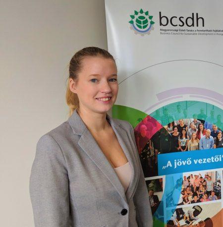 """Mikolay Réka lett a BCSDH """"A jövő vezetői"""" tehetségprogram ösztöndíjasa"""