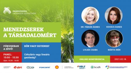 Menedzserek a Társadalomért – Fókuszban a Jövő! 2021 digitális konferencia